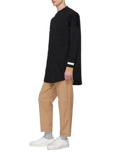 FFIXXED STUDIOS Stripe cuff wool twill shirt