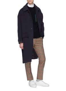 FFIXXED STUDIOS Contrast cuff melton coat