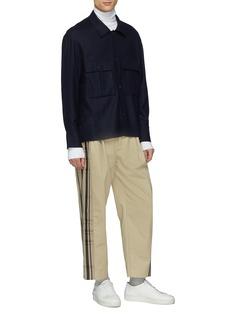 FFIXXED STUDIOS 'Double' tartan plaid outseam twill pants
