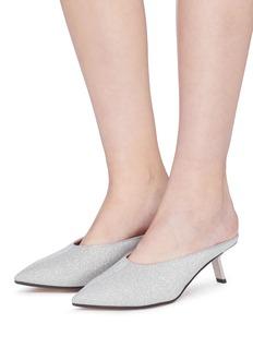 Alchimia di Ballin 'Aster' slanted heel glitter mules