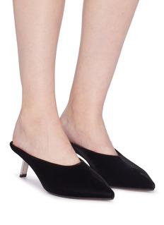 Alchimia di Ballin 'Aster' slanted heel velvet mules