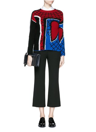 Figure View - Click To Enlarge - Valentino - 'Super-H' Spiderman intarsia wool sweater