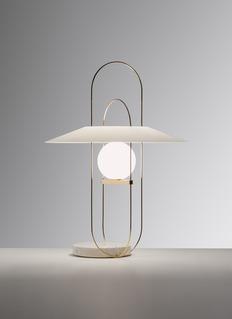 FontanaArte Setareh table lamp – Chrome/White