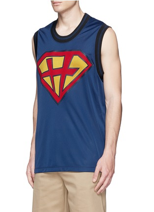 Front View - Click To Enlarge - Valentino - 'Super-H' Superman basketball tank