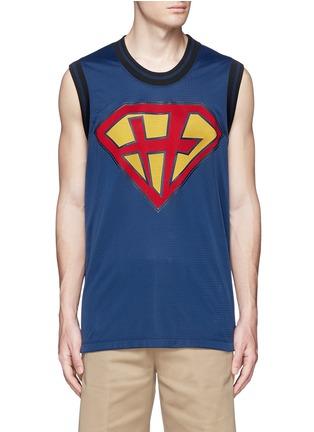 Main View - Click To Enlarge - Valentino - 'Super-H' Superman basketball tank