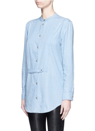 Front View - Click To Enlarge - EQUIPMENT - 'Mandel' cotton chambray shirt