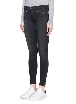 Front View - Click To Enlarge - rag & bone/JEAN - 'RBW 23' zip cuff washed jeans