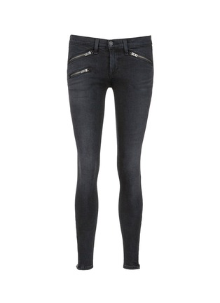 Main View - Click To Enlarge - rag & bone/JEAN - 'RBW 23' zip cuff washed jeans
