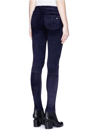 Back View - Click To Enlarge - rag & bone/JEAN - 'Skinny' suede pants
