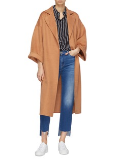 CRUSH Collection Belted cashmere blend melton robe coat