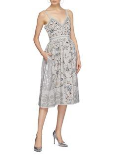 Needle & Thread 'Ella' floral embellished sequin patchwork dress
