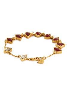 Aishwarya Diamond ruby station charm bracelet