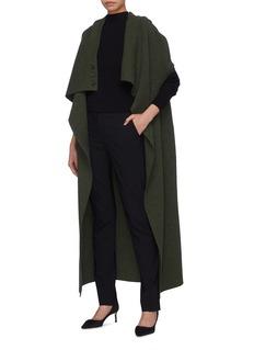 Victoria Beckham Drape virgin wool blend knit open gilet