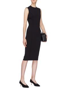Victoria Beckham Curved seam zip back dress