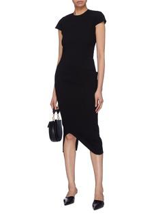 Victoria Beckham Curve hem patch pocket split back crepe dress