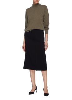 Victoria Beckham Curve seam crepe skirt