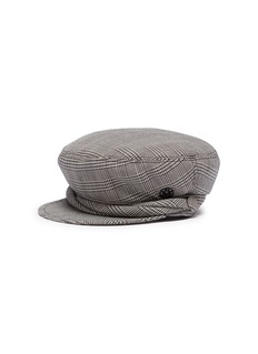 Maison Michel 'New Abby' houndstooth check plaid sailor cap