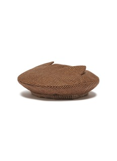 Maison Michel 'Billy Ears' reversible houndstooth beret