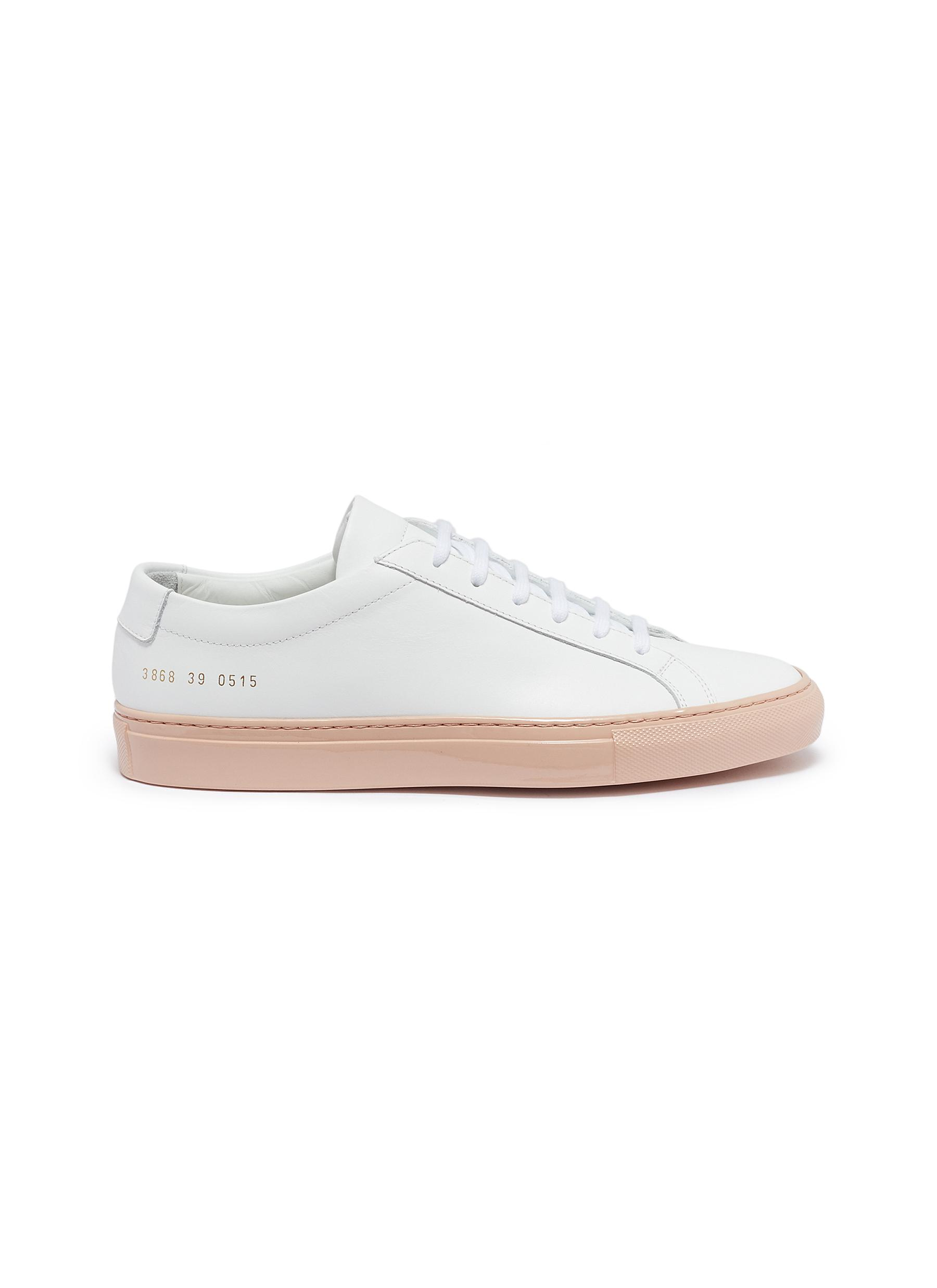 Achilles patent outsole leather sneakers by Common Projects