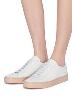 Common Projects 'Achilles' patent outsole leather sneakers