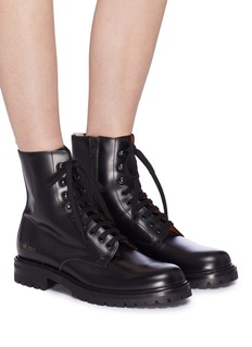 Common Projects Leather combat boots