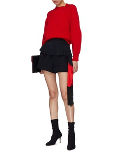 Alexander McQueen Tassel peplum drape shorts