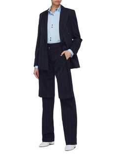 Stella McCartney 'Laurel' layered panel windowpane check wool pants