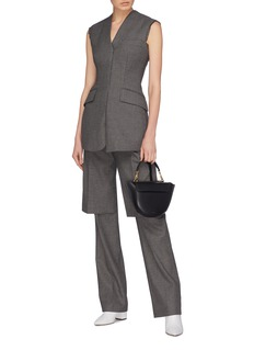 Stella McCartney 'Tia' spilt back hem frayed sleeveless blazer top
