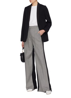 Stella McCartney 'Emilia' tie back split side wool twill blazer