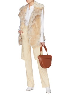Stella McCartney 'Champagne' faux fur patchwork oversized gilet