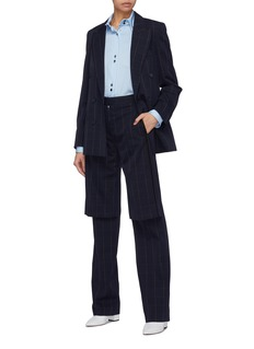 Stella McCartney 'Robin' windowpane check double breasted wool blazer
