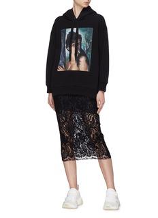 Stella McCartney 'Alma' floral guipure lace skirt