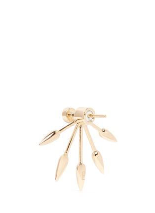 Detail View - Click To Enlarge - Pamela Love - 5 Spike' diamond 18k yellow gold fan earrings