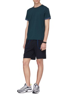 Particle Fever Contrast trim running shorts