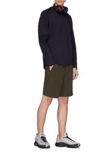 Particle Fever Zip outseam rib panel performance sweatshirt