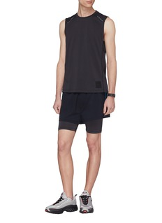 Particle Fever Stripe outseam layered running shorts