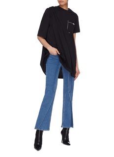 SIRLOIN 'Suitee' patch pocket asymmetric drape T-shirt dress