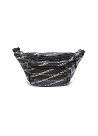 Main View - Click To Enlarge - Balenciaga - 'Explorer' logo tape print leather belt bag