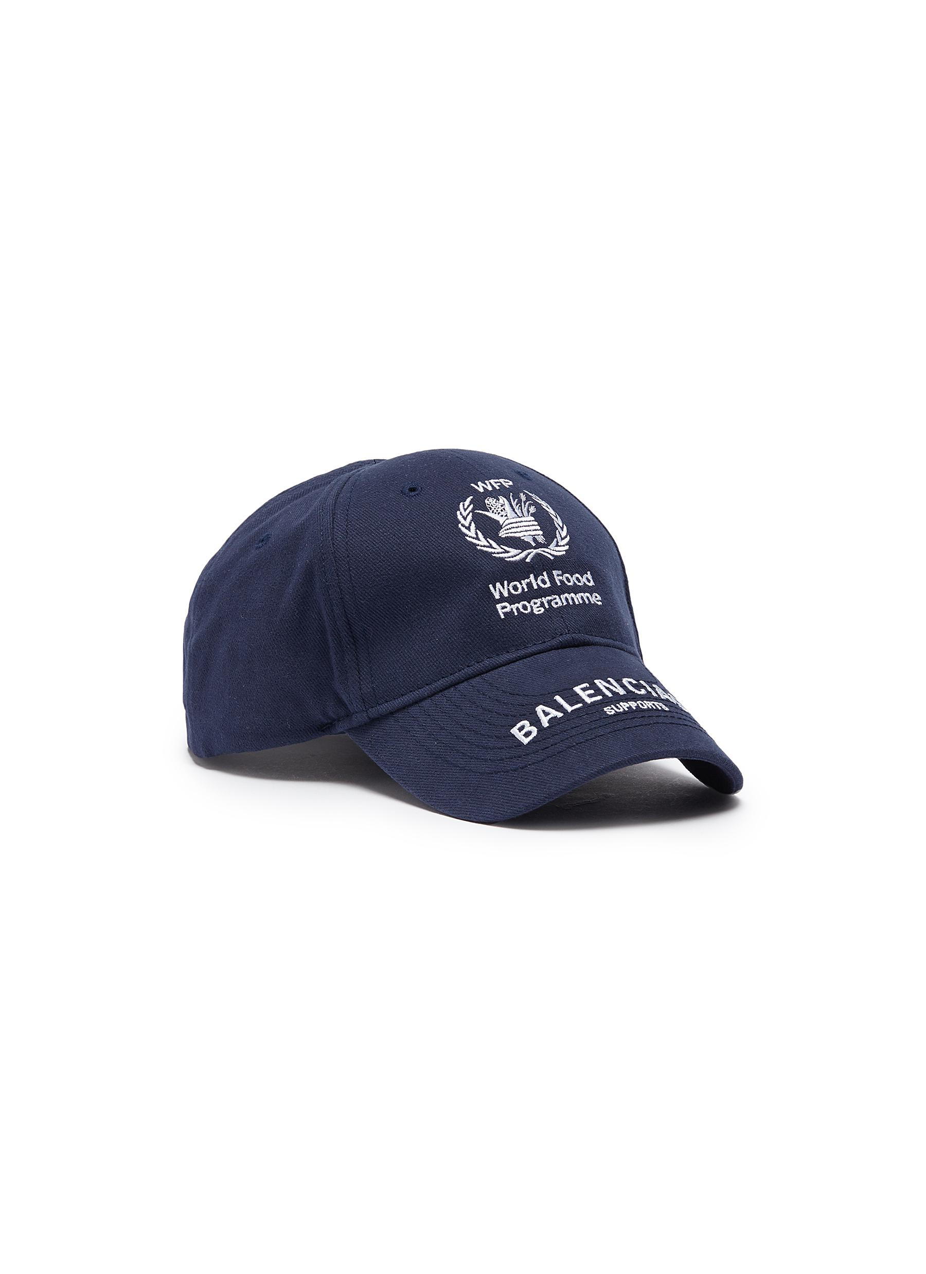c92eeb15a1b Balenciaga. x World Food Programme logo embroidered baseball cap