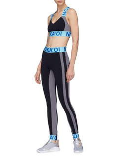 No Ka'Oi 'Uhane Kalia' logo waistband colourblock performance leggings