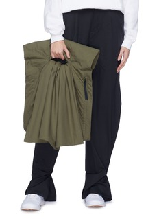 PHVLO Padded ruffle convertible shawl bag
