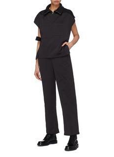 YAJUN Belted patch pocket unisex turtleneck jumpsuit