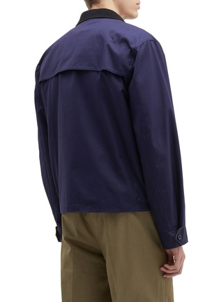 Back View - Click To Enlarge - Lanvin - Reversible shark logo print storm flap twill jacket