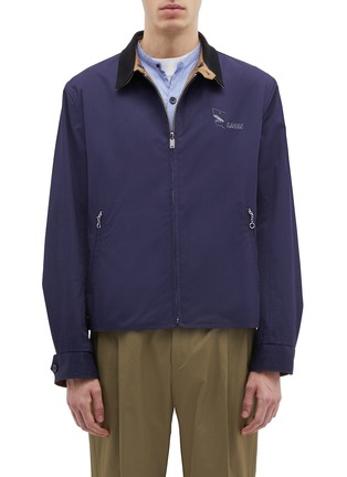 Main View - Click To Enlarge - Lanvin - Reversible shark logo print storm flap twill jacket