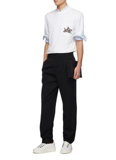 Lanvin Shark appliqué chest pocket T-shirt