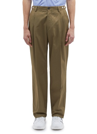 Main View - Click To Enlarge - LANVIN - Side adjuster pleated front twill pants