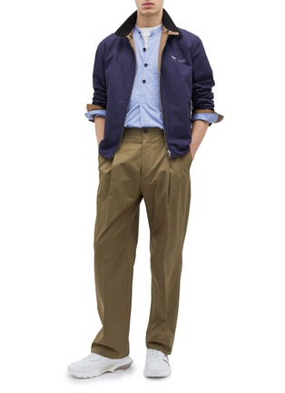 Figure View - Click To Enlarge - LANVIN - Side adjuster pleated front twill pants