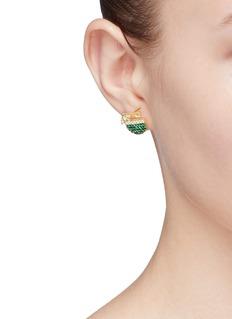 HEFANG 'Coconut' cubic zirconia stud earrings