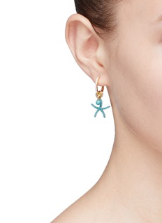 HEFANG 'Mini Starfish' detachable drop earrings
