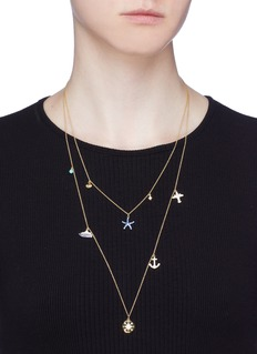 HEFANG 'Vacation Trip' charm tiered necklace